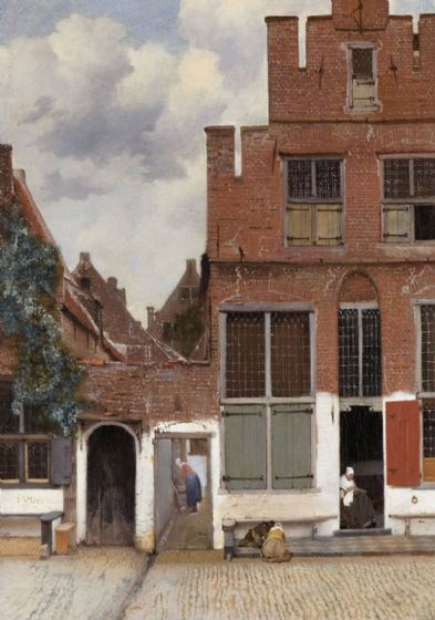 Vermeer, Johannes: The Little Street/Street in Delft. Dutch Fine Art Print/Poster. Sizes: A4/A3/A2/A1 (001839)
